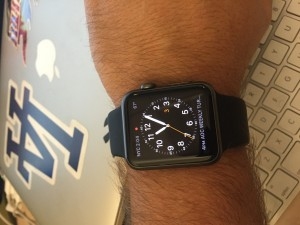 What the watch looks like on my wrist